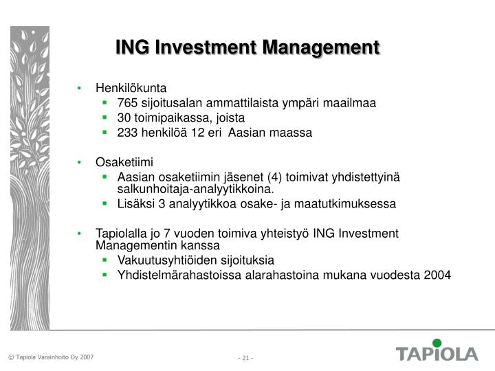 ING Investment Management