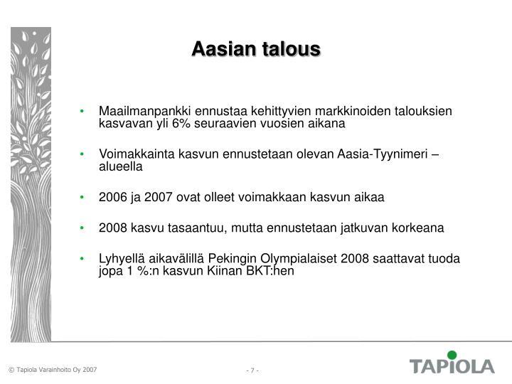 Aasian talous