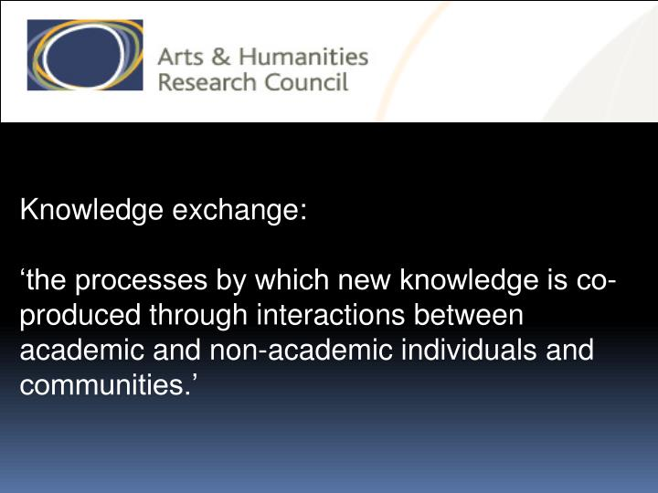 Knowledge exchange: