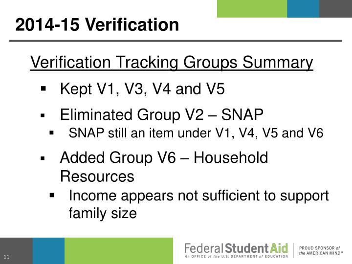 Verification Tracking Groups Summary