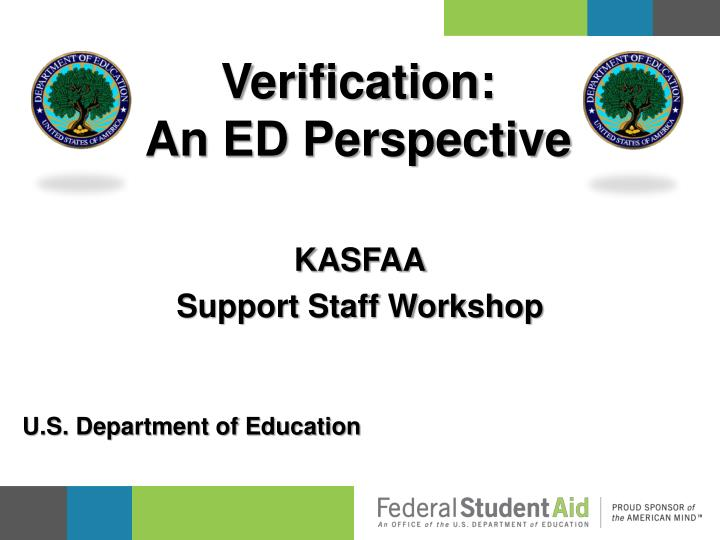 Verification an ed perspective