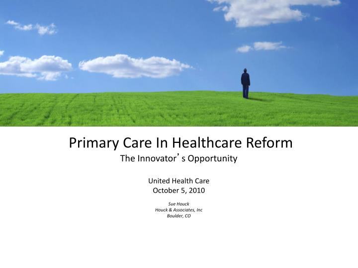 Primary Care In Healthcare Reform