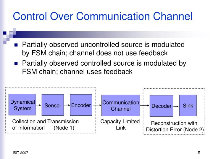 Control over communication channel