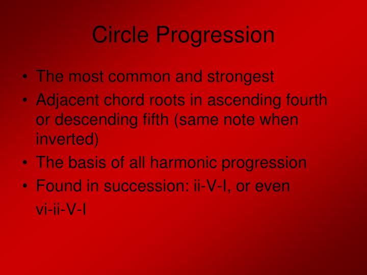 Circle Progression