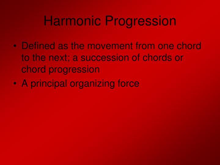 Harmonic Progression