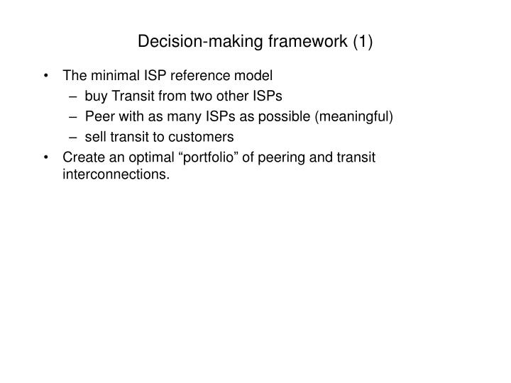 Decision-making framework (1)