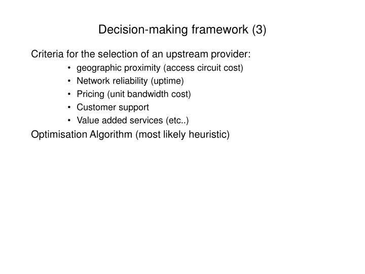 Decision-making framework (3)