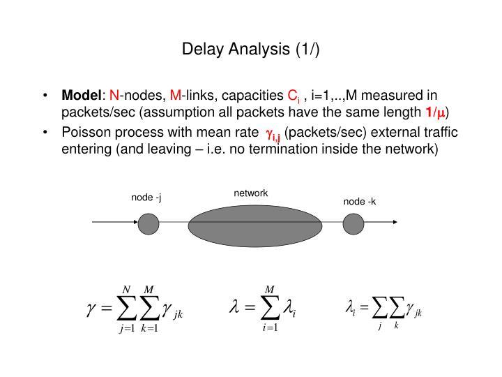 Delay Analysis (1/)