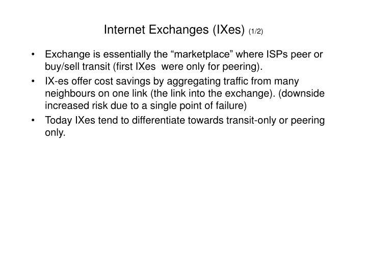 Internet Exchanges (IXes)