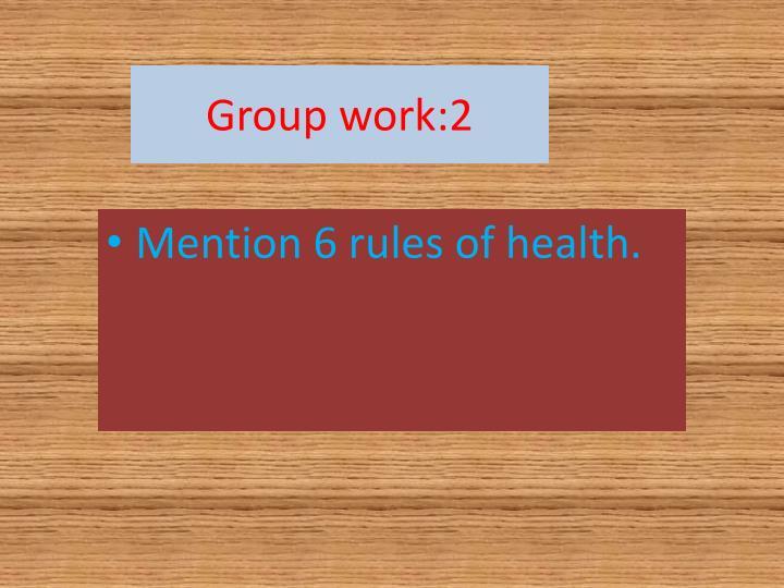 Group work:2
