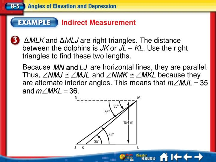 Because                    are horizontal lines, they are parallel. Thus,                          and                           because they are alternate interior angles. This means that