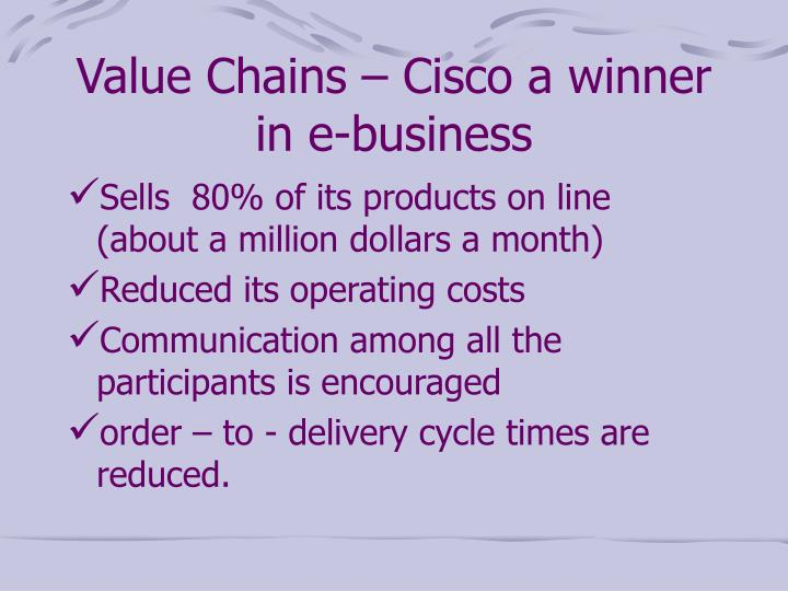 Value Chains – Cisco a winner in e-business