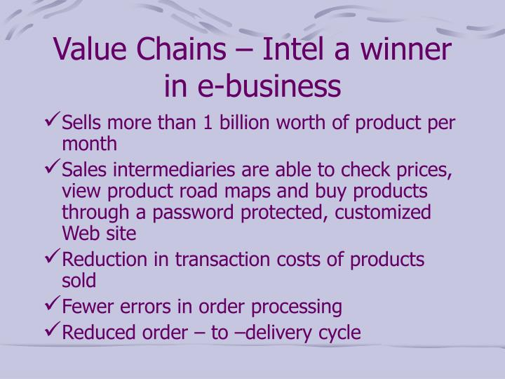 Value Chains – Intel a winner in e-business