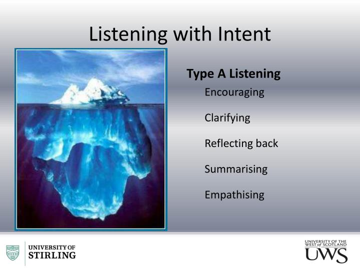 Listening with Intent