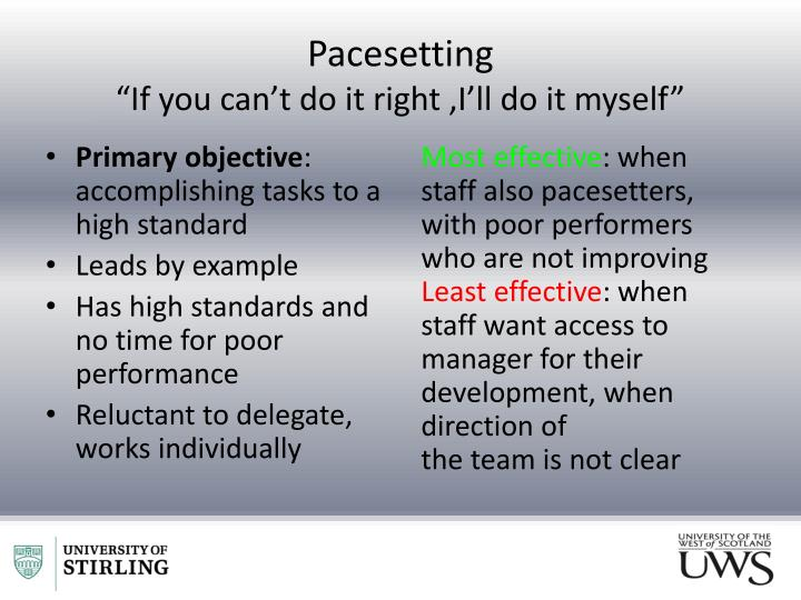 Pacesetting