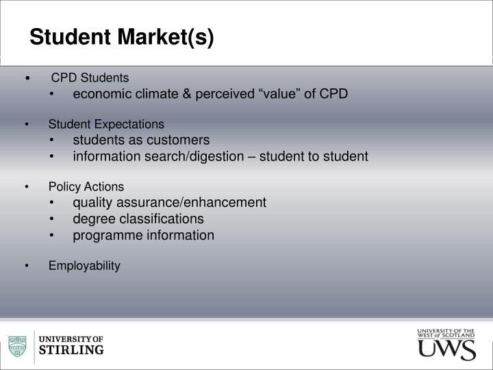 Student Market(s)