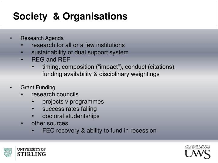 Society  & Organisations