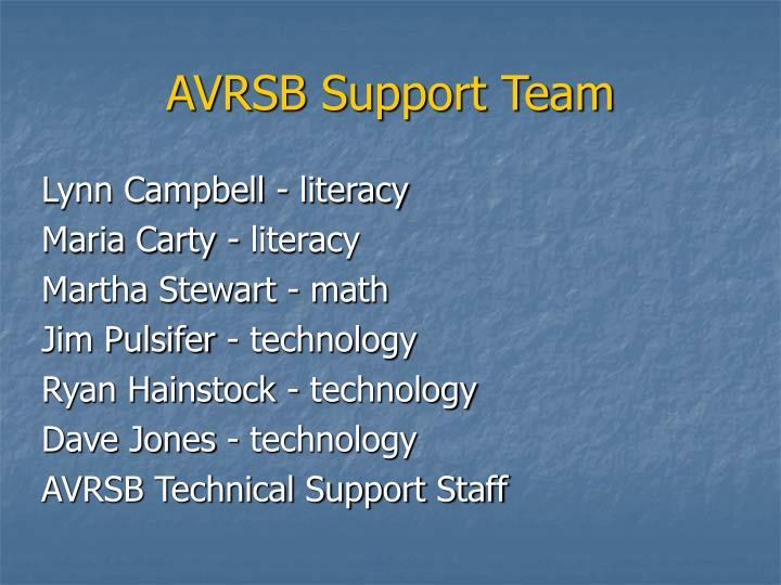 AVRSB Support Team