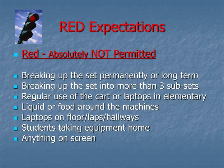 RED Expectations