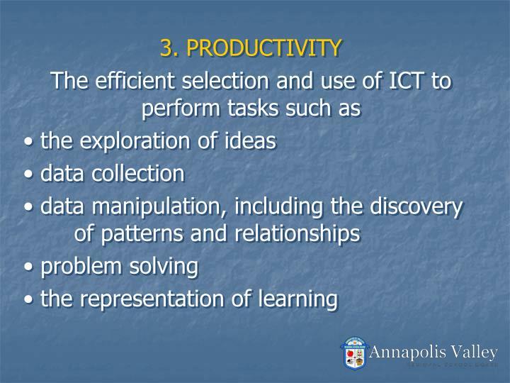 3. PRODUCTIVITY
