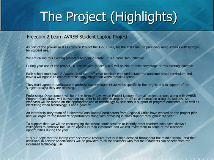 The project highlights