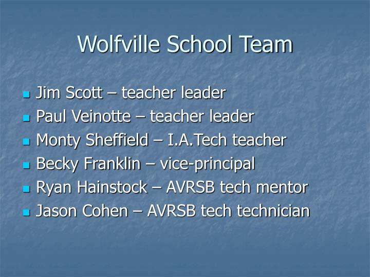 Wolfville School Team