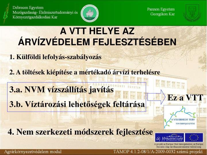A VTT HELYE AZ