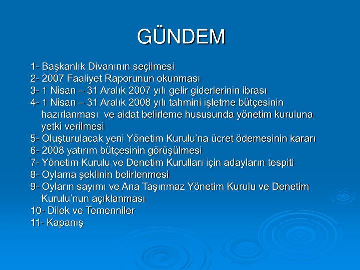 GÜNDEM