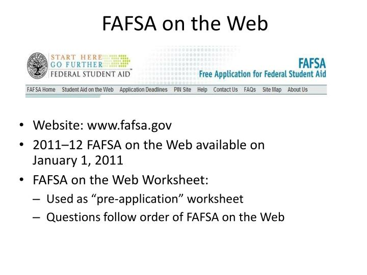 FAFSA on the Web