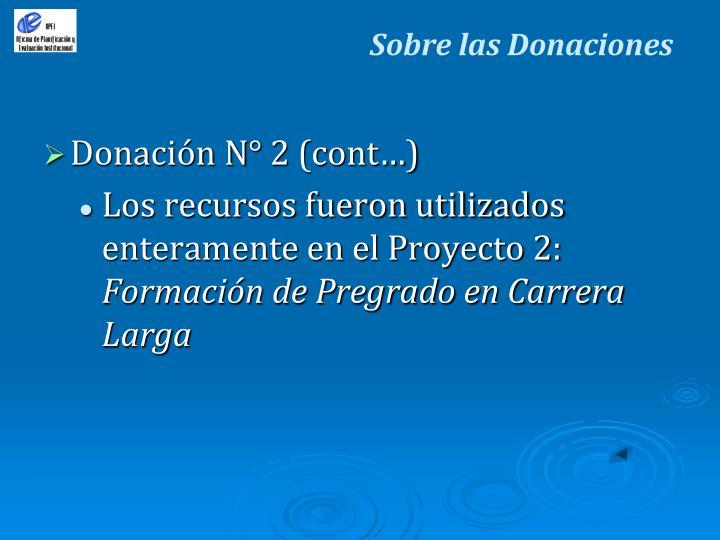 Sobre las Donaciones