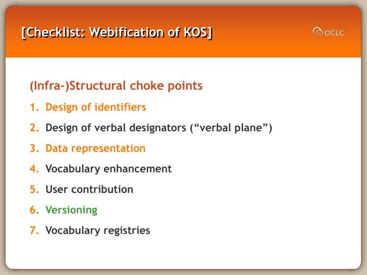 [Checklist: Webification of KOS]