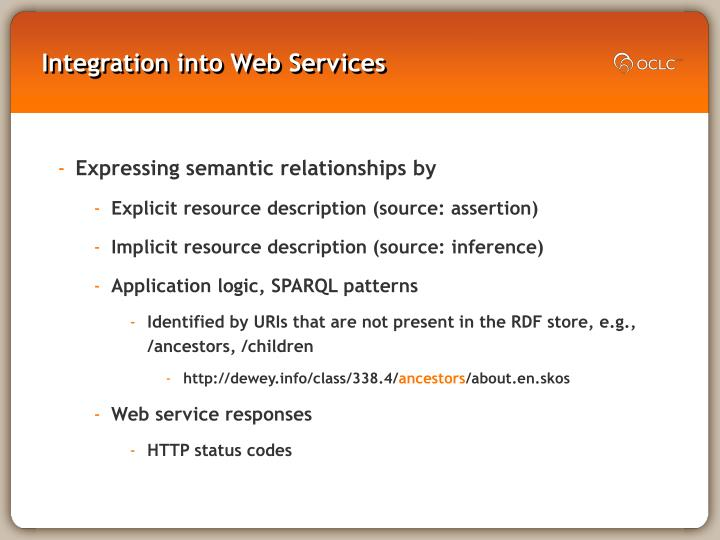 Integration into Web Services