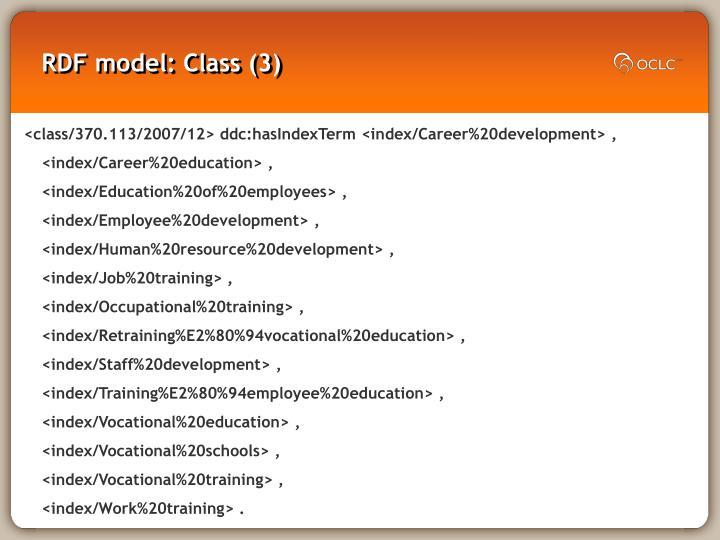 RDF model: Class (3)