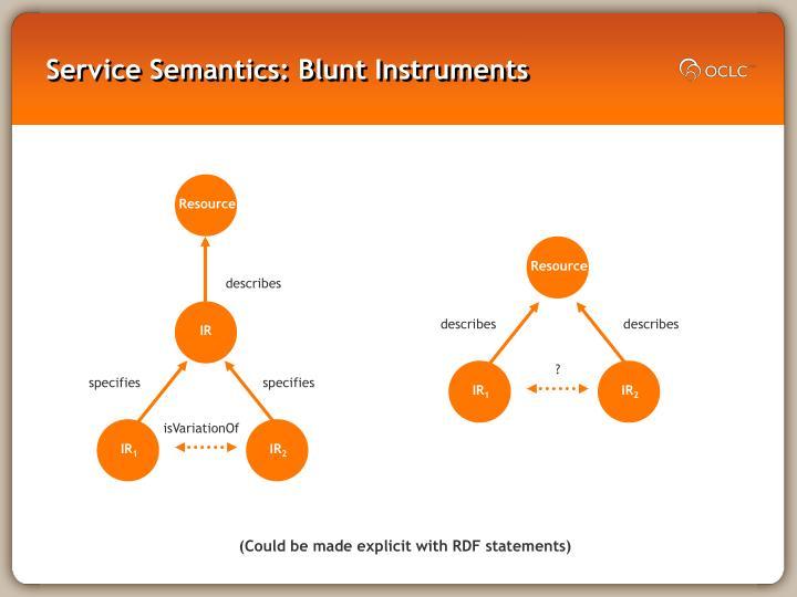 Service Semantics: Blunt Instruments