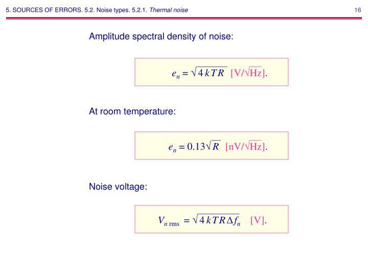 Noise voltage: