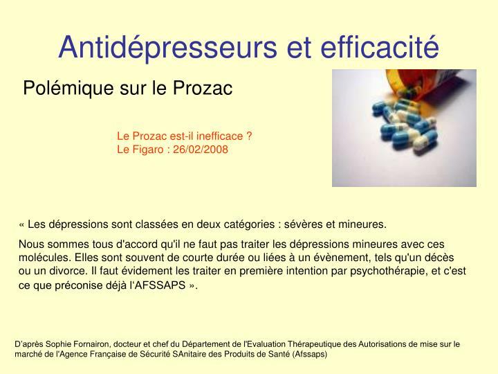 Antidépresseurs et efficacité