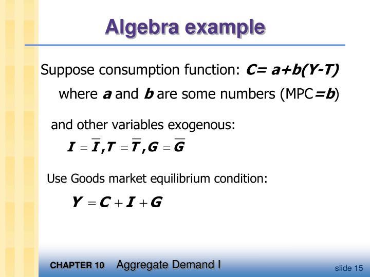 Algebra example