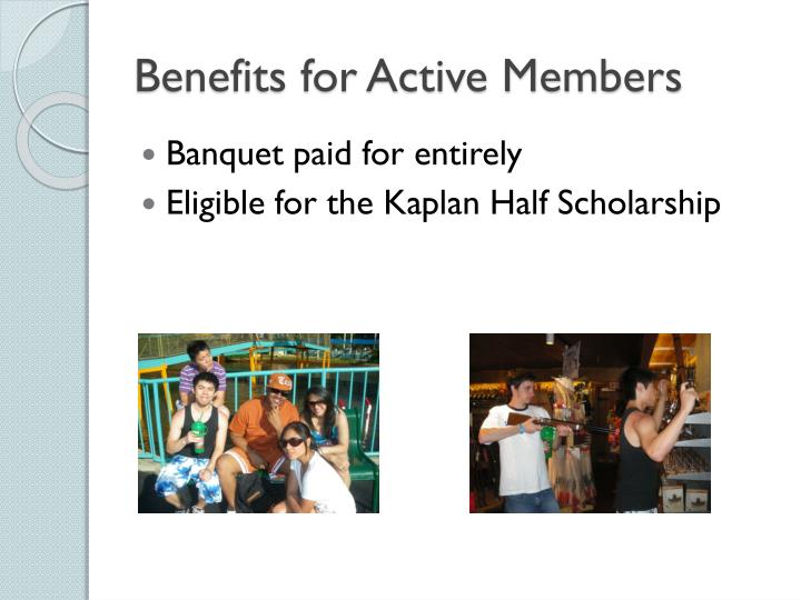 Benefits for Active Members