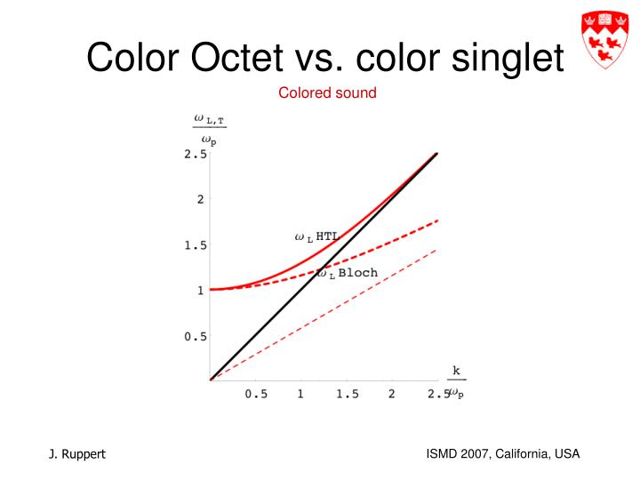 Color Octet vs. color singlet