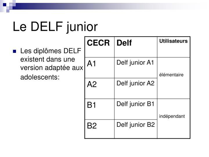 Le DELF junior