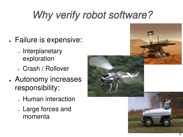 Why verify robot software