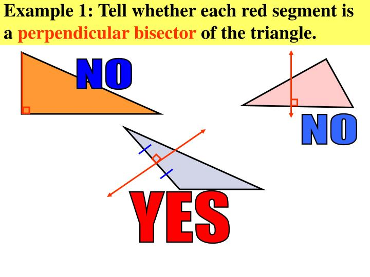 Example 1: Tell whether each red segment is a