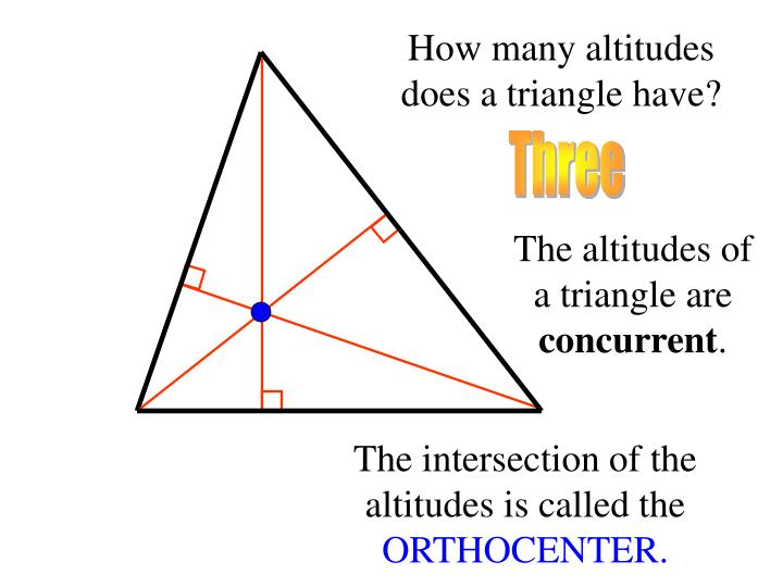 How many altitudes does a triangle have?