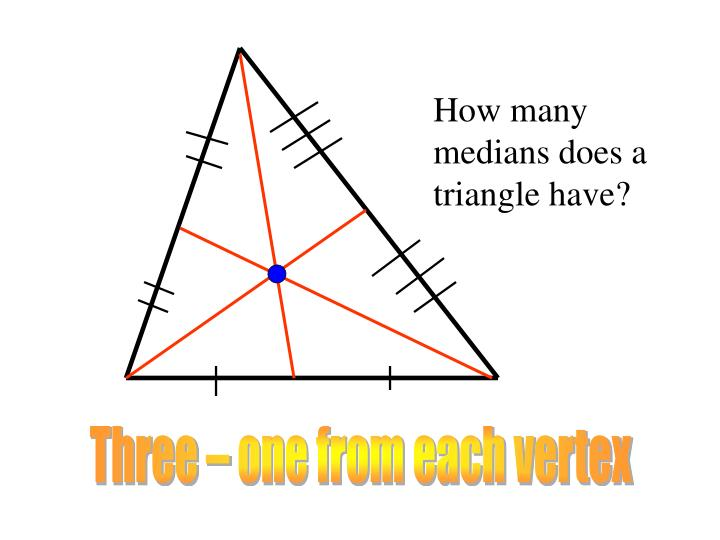 How many medians does a triangle have?