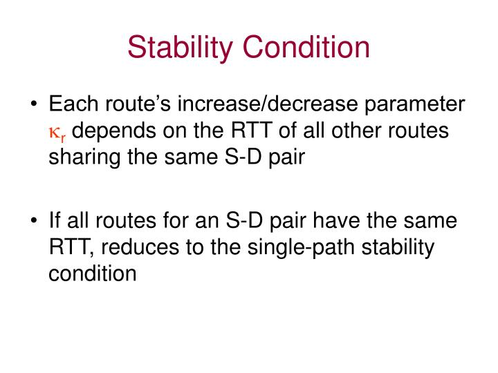 Stability Condition