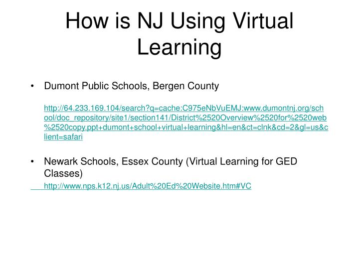 How is NJ Using Virtual Learning