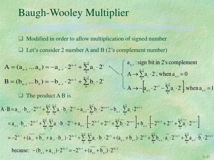Baugh-Wooley Multiplier