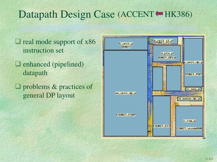 Datapath Design Case