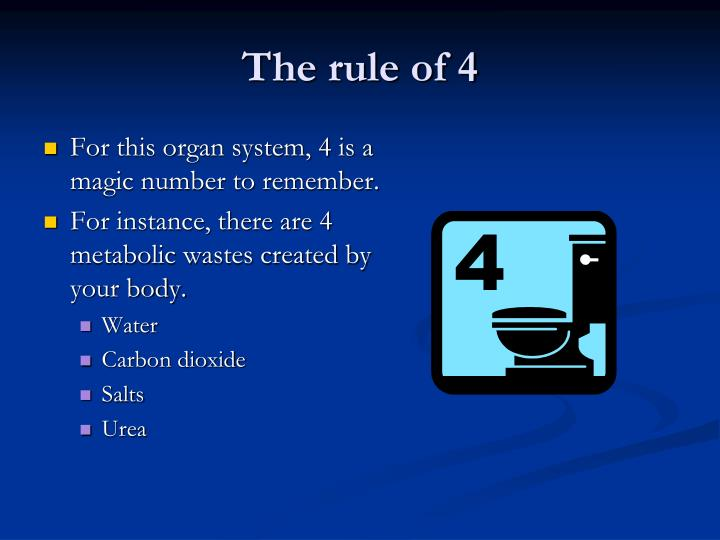 The rule of 4