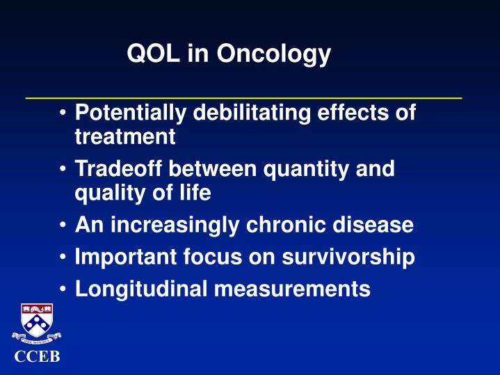 Qol in oncology
